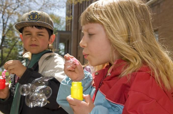 Activité bulles de savon - École Val Marie